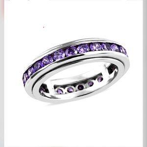 Simulated Purple Diamond Eternity Band Ring